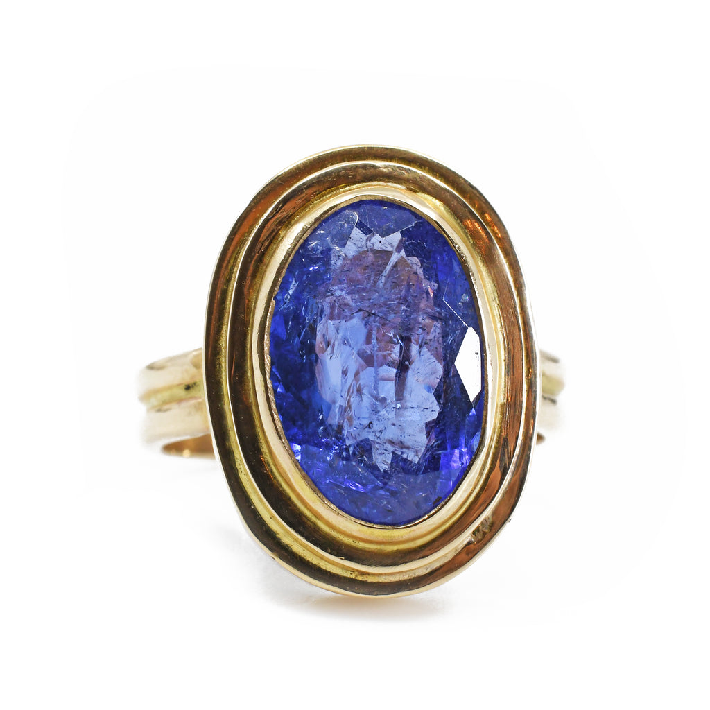 Tanzanite 2.26ct Oval Faceted Gem 14kt Handcrafted Ring