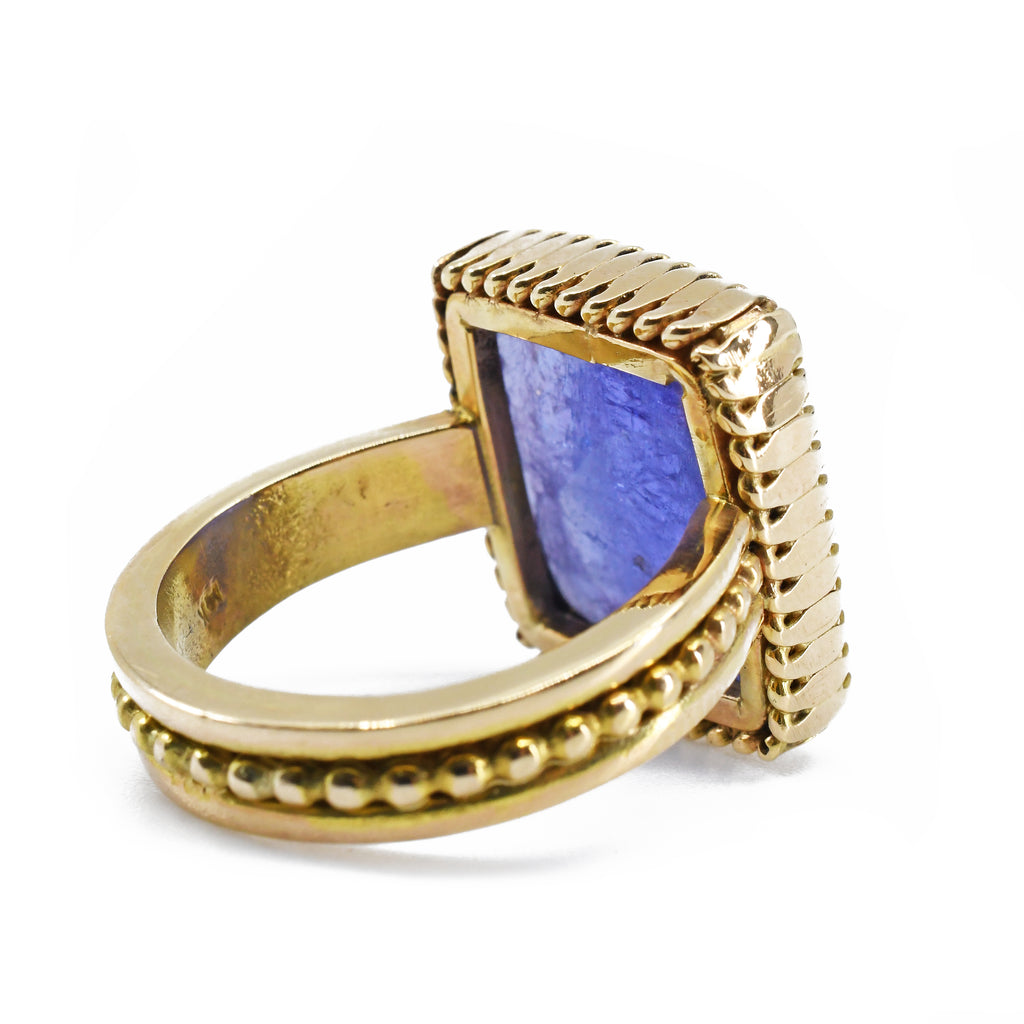 Tanzanite Faceted 14k Handcrafted Gemstone Ring