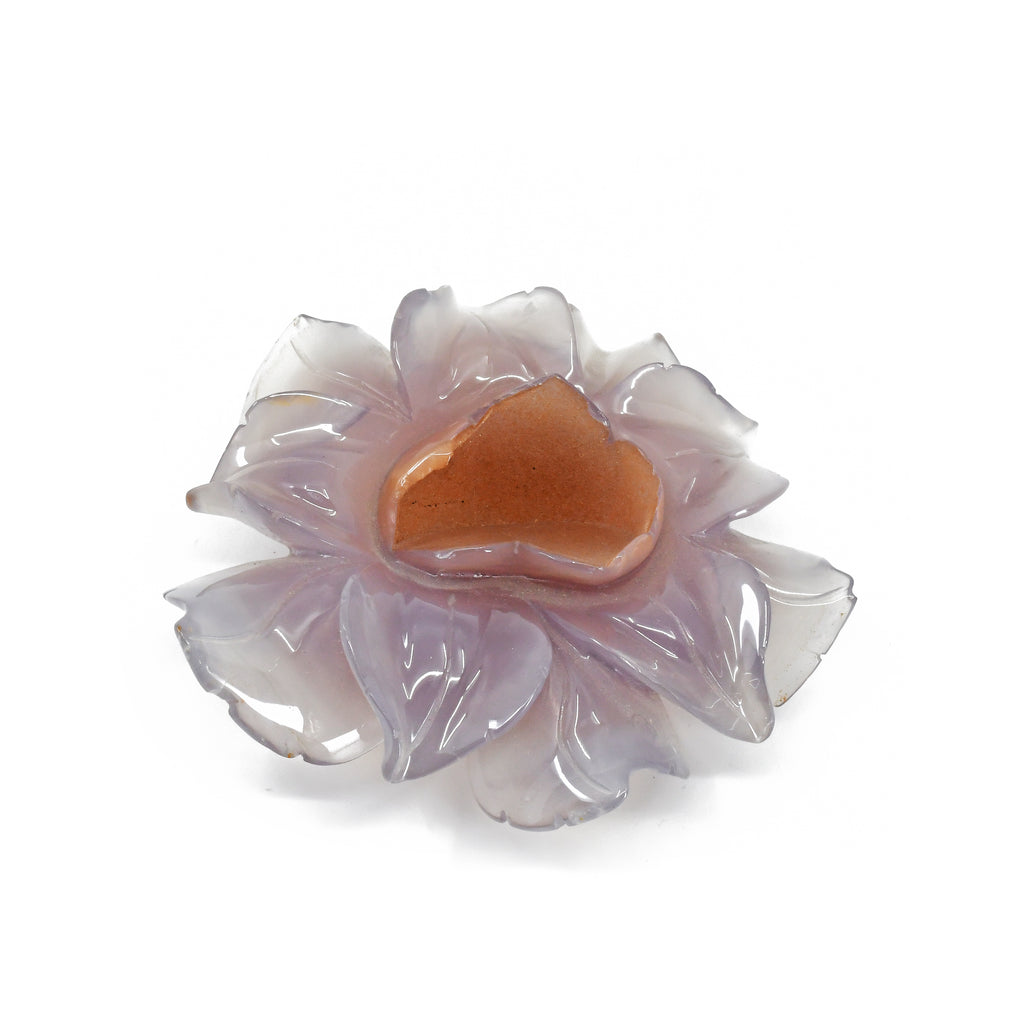Agate - Lavender Agate Carved Crystal Flower - China