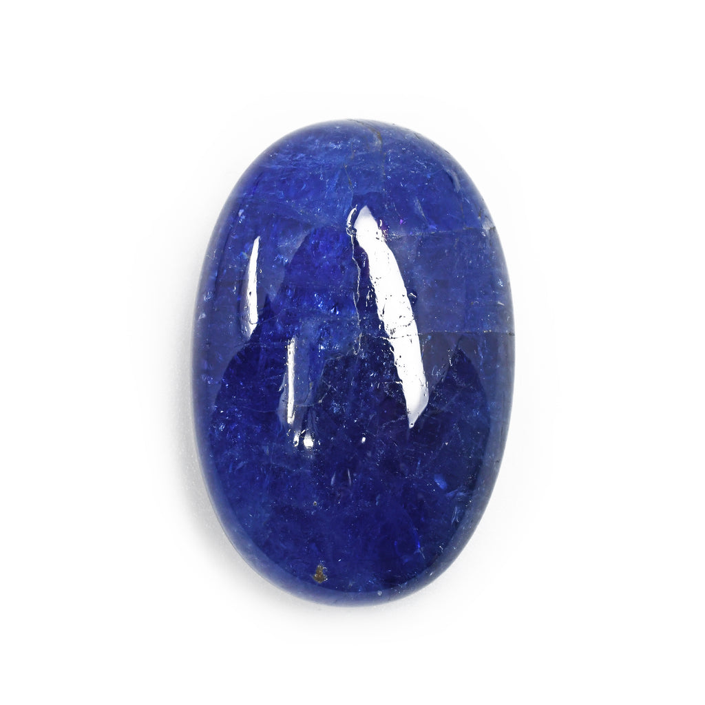 Tanzanite 40.39 mm 25.4 grams Oval Polished Gem Cabochon - Tanzania