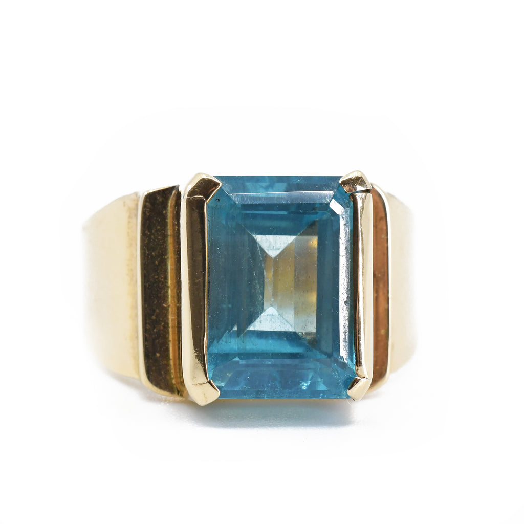 Apatite 14Kt Gold Faceted Handmade Ring
