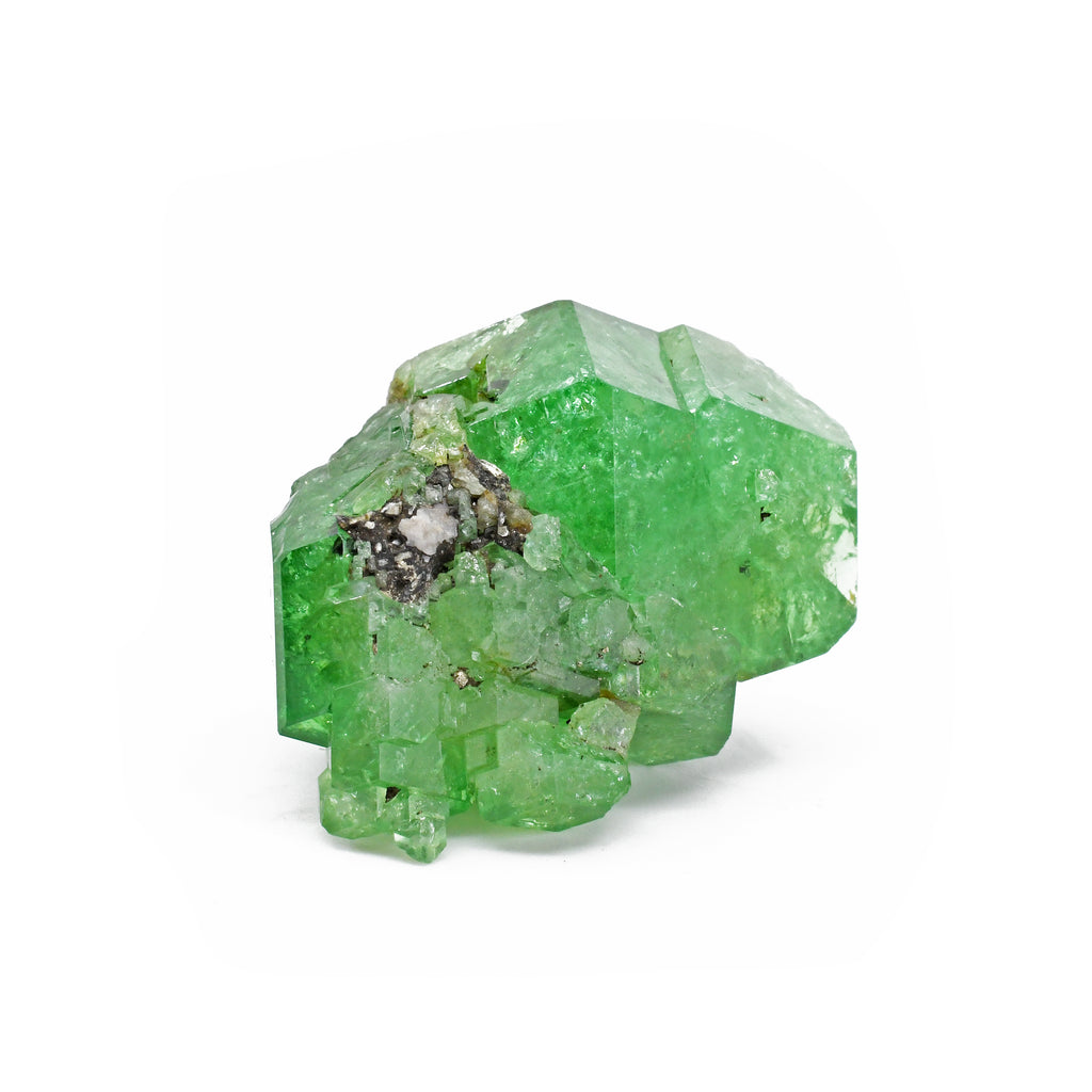 Tsavorite 33.42 mm 26.3 grams Natural Gem Crystal Cluster - Tanzania