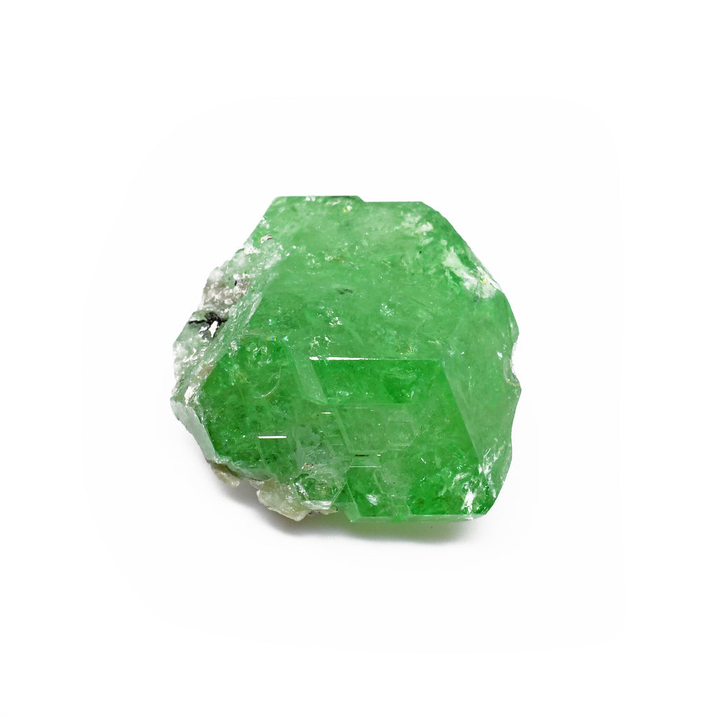 Tsavorite 26.10 mm 10.8 grams Natural Gem Crystal - Tanzania