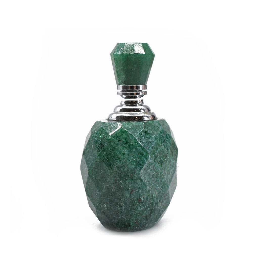 Aventurine 1.86 inch 35.5 grams Carved Perfume Bottle - India