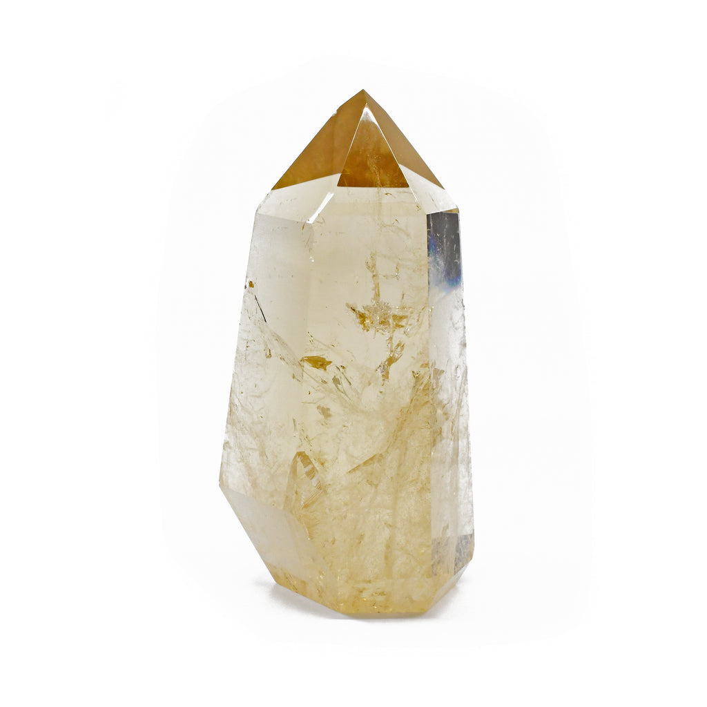 Citrine 4.9 inch 1.17 lbs Polished Crystal Point - Brazil
