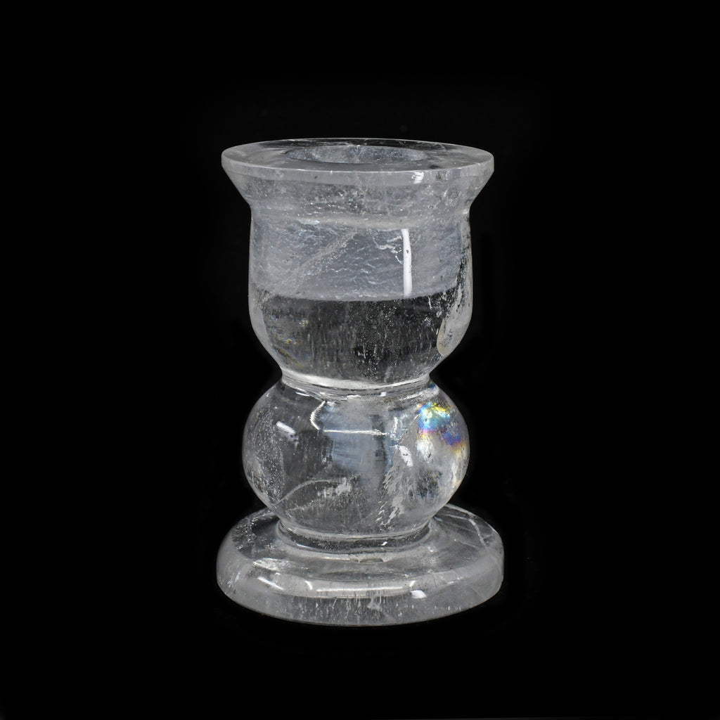 Clear Quartz 2.59 inch 132.4 grams Carved Crystal Candle Stick - Brazil
