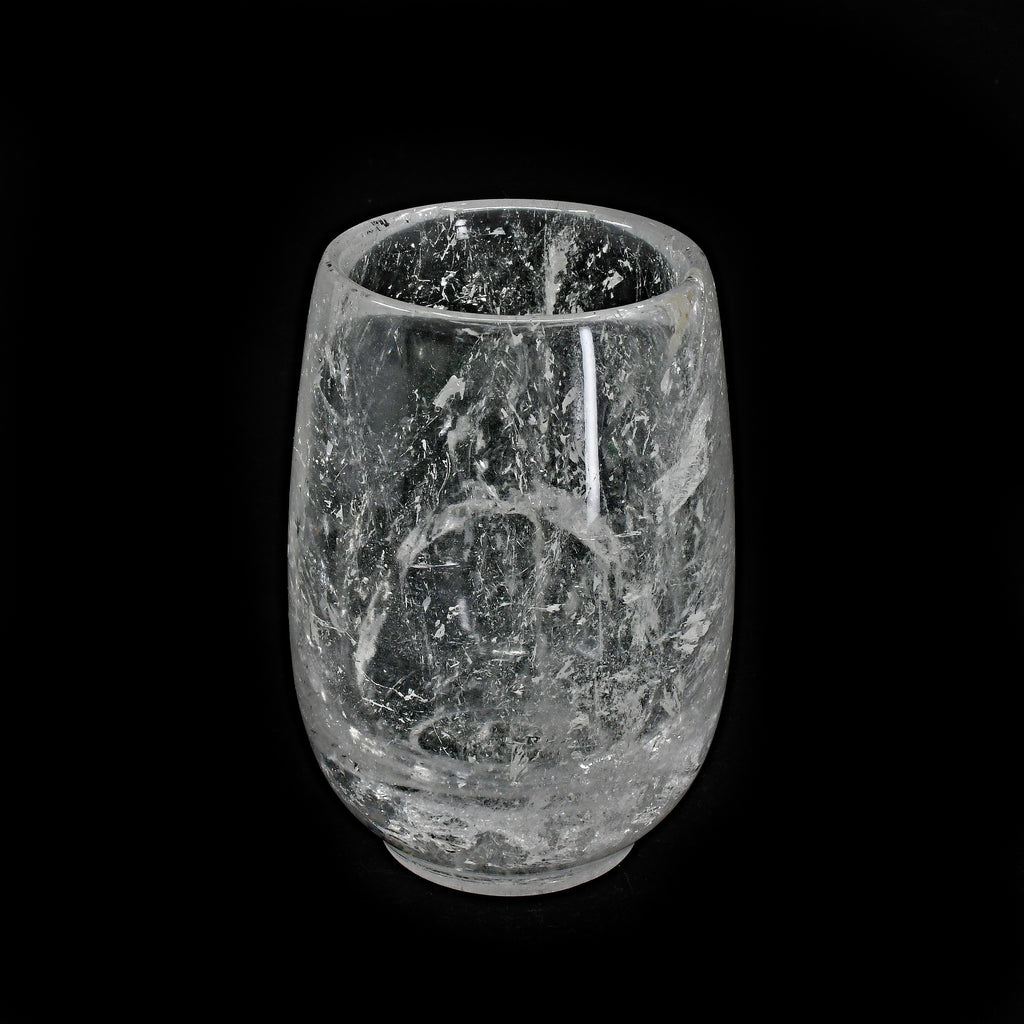 Clear Quartz 3.93 inch 0.88 lbs Carved Crystal Cup - Brazil