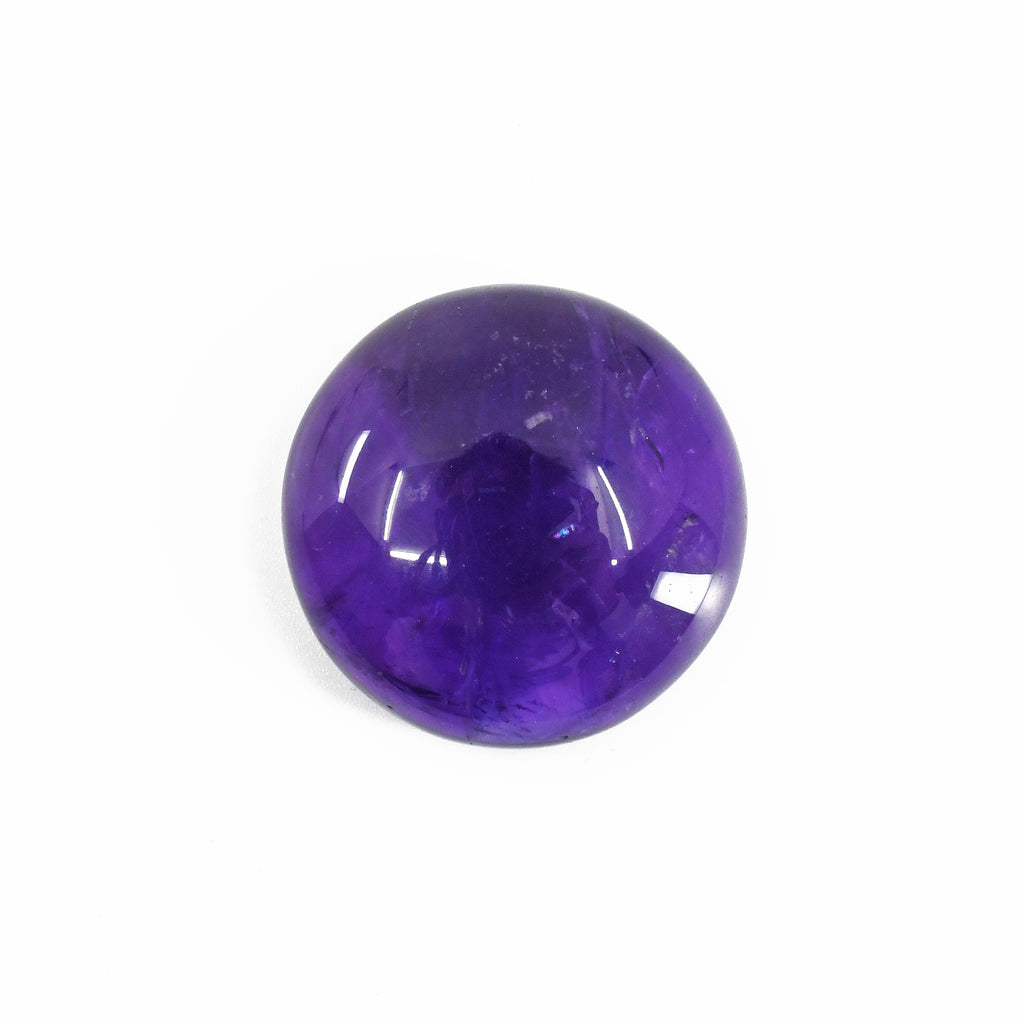 Amethyst 28.85 mm 67 carats Polished Round Cabochon
