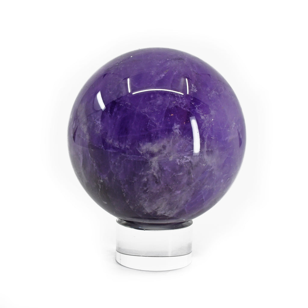 Amethyst 3.43 inch 2.03 lbs Polished Crystal Sphere - China