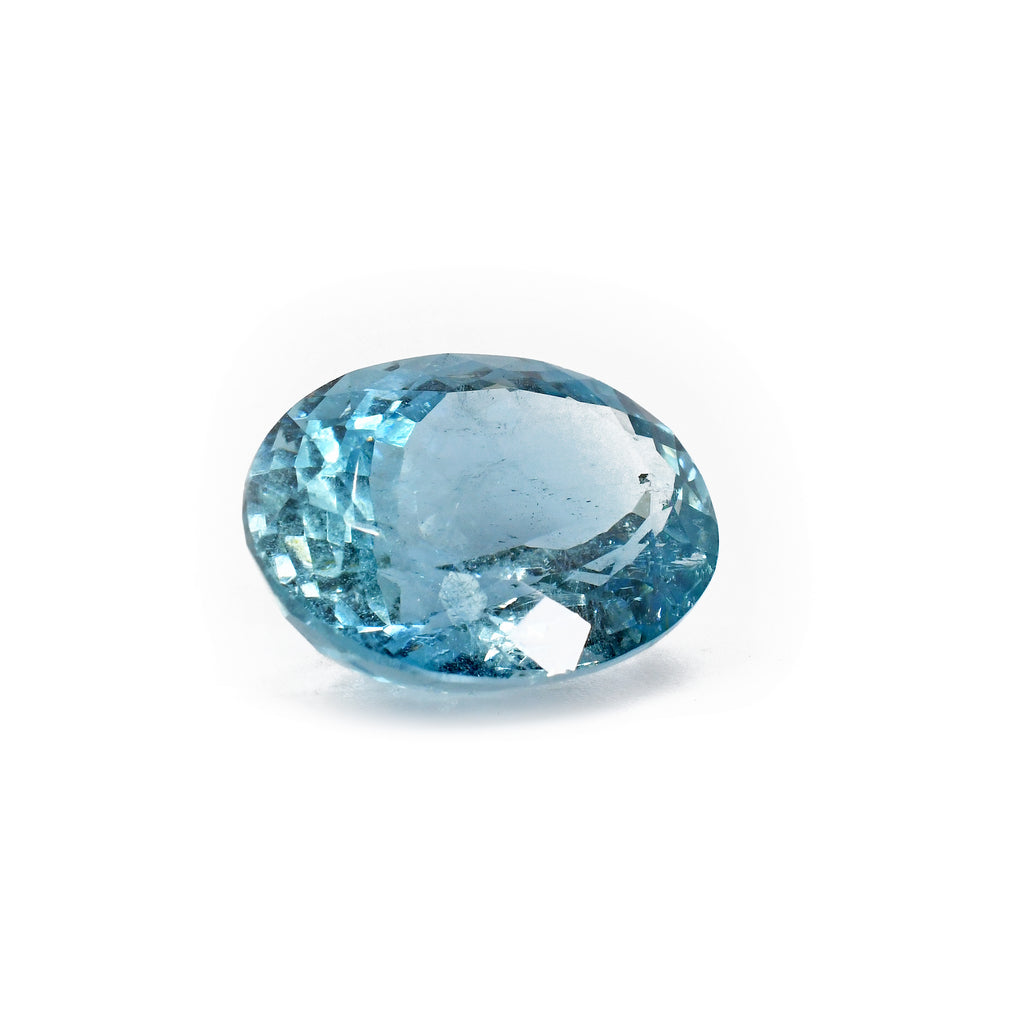 Aquamarine 12.34ct Faceted Oval Gemstone