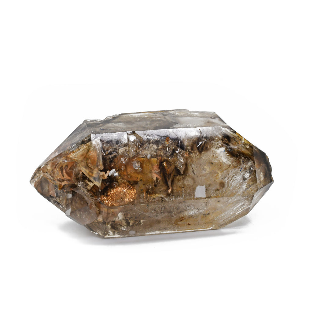 Smoky Quartz Manifestation 5.15 inch 1.34 lbs Natural Double Terminated Crystal - Madagascar