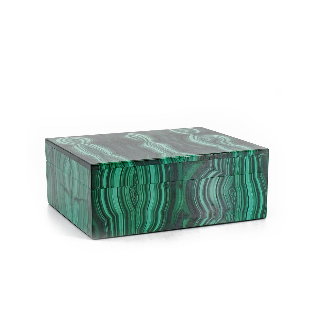 Malachite 4.07 inch 1.14 lbs Polished Crystal Box