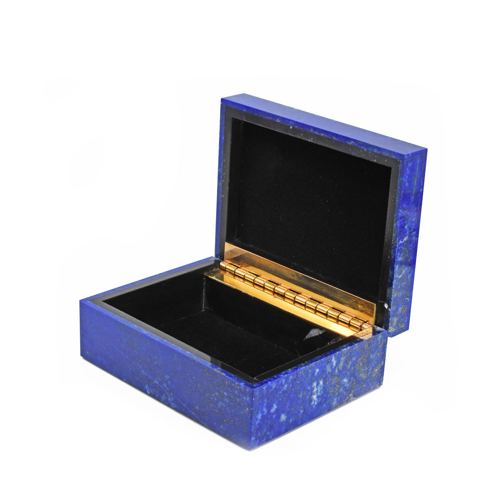 Lapis Lazuli 4.10 inch 1.08 lbs Carved Crystal Box