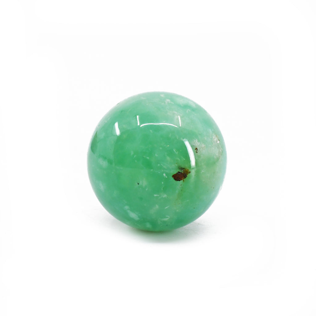 Chrysoprase 1.03 inch 24.2 grams Natural Crystal Polished Sphere - Haneti, Tanzania