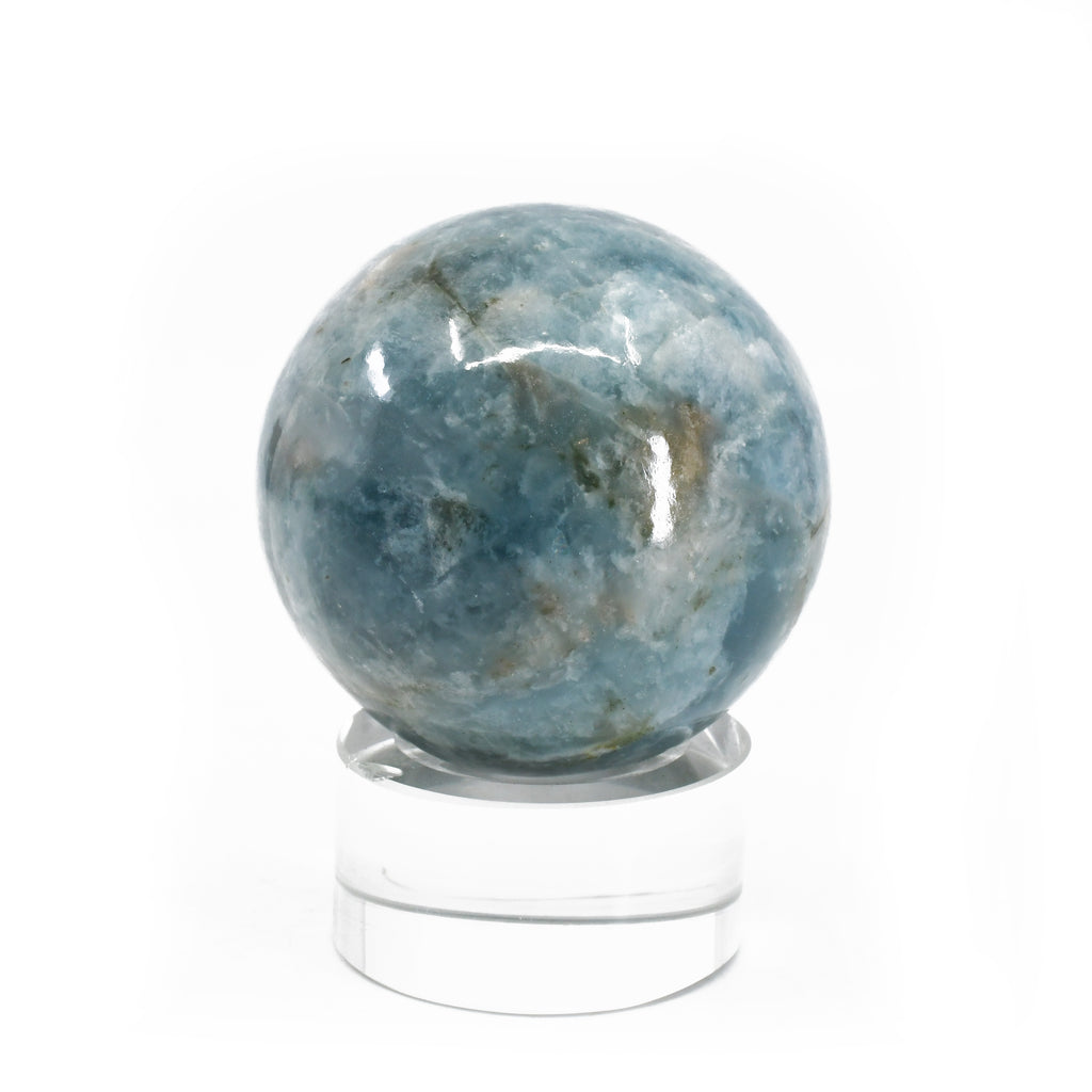Aquamarine 2.03 inch 189 grams Natural Crystal Polished Sphere - India