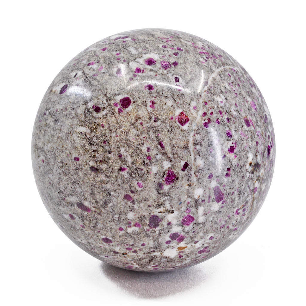 Ruby Crystals in Matrix 4.7 inch 6.17 lb Natural Crystal Sphere - India