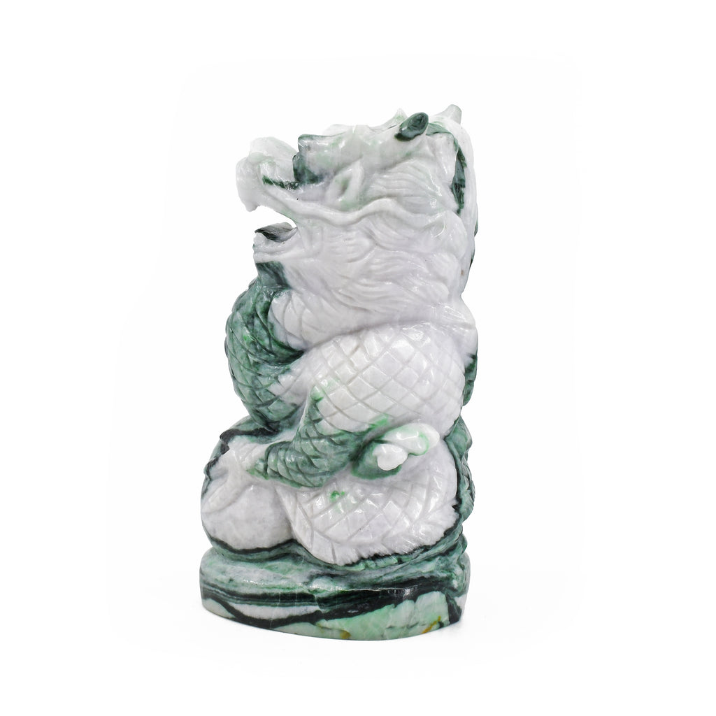 Jade 4.18 inch 0.94 lbs Carved Dragon - China