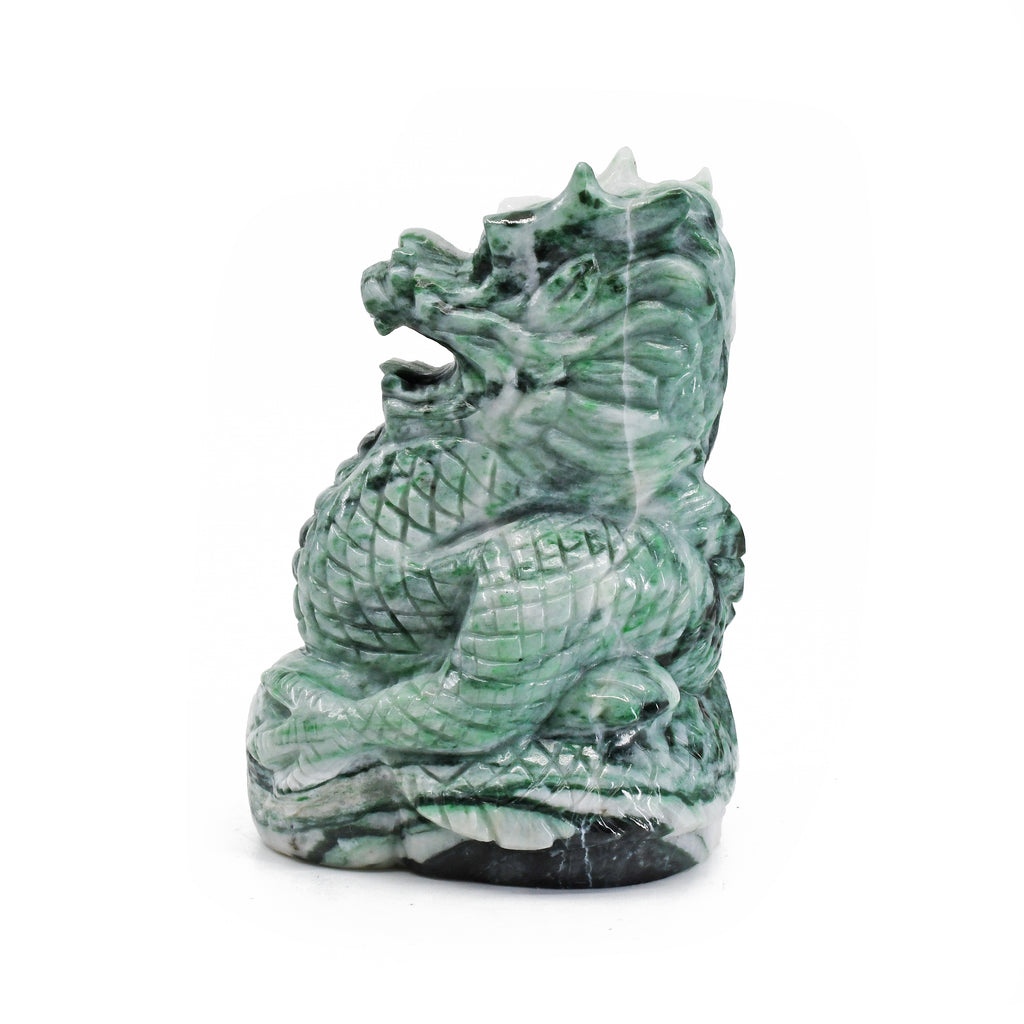 Jade 2.81 inch 0.41 lbs Carved Dragon - China