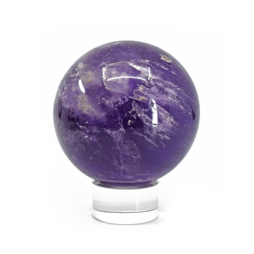 Amethyst 3.2 inch 1.65 lbs Polished Crystal Sphere - Brazil
