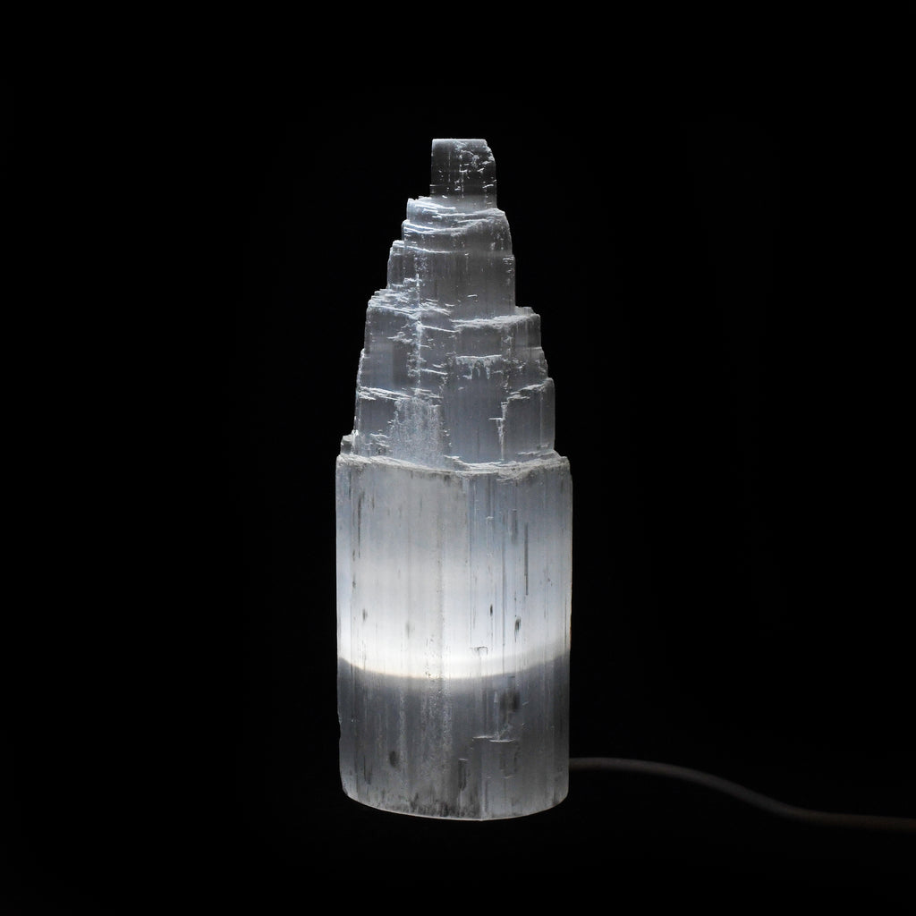 "Selenite 6"" Natural Crystal USB Lamp"