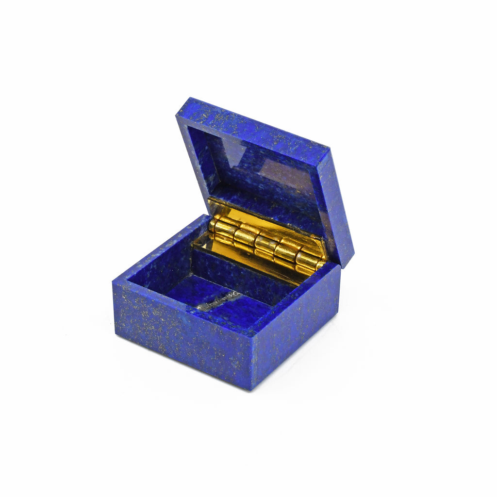 Lapis Lazuli 1.60 inch 62.3 grams Natural Crystal Carved Mini Box