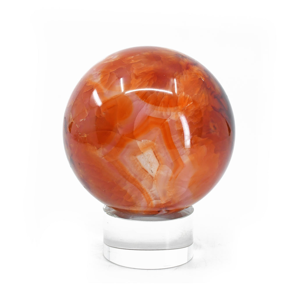 "Carnelian 2.7"" Polished Crystal Sphere - Madagascar"