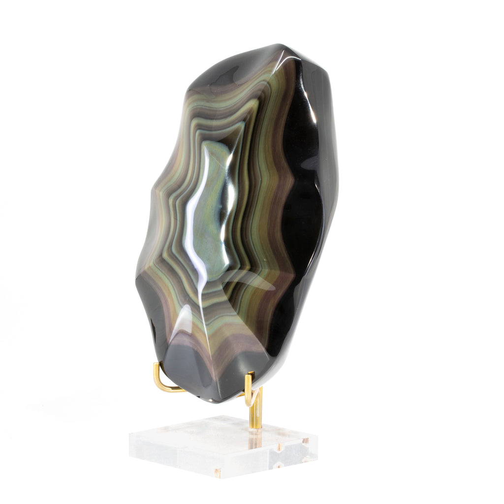 Rainbow Obsidian 6.7 inch Polished Crystal - Mexico