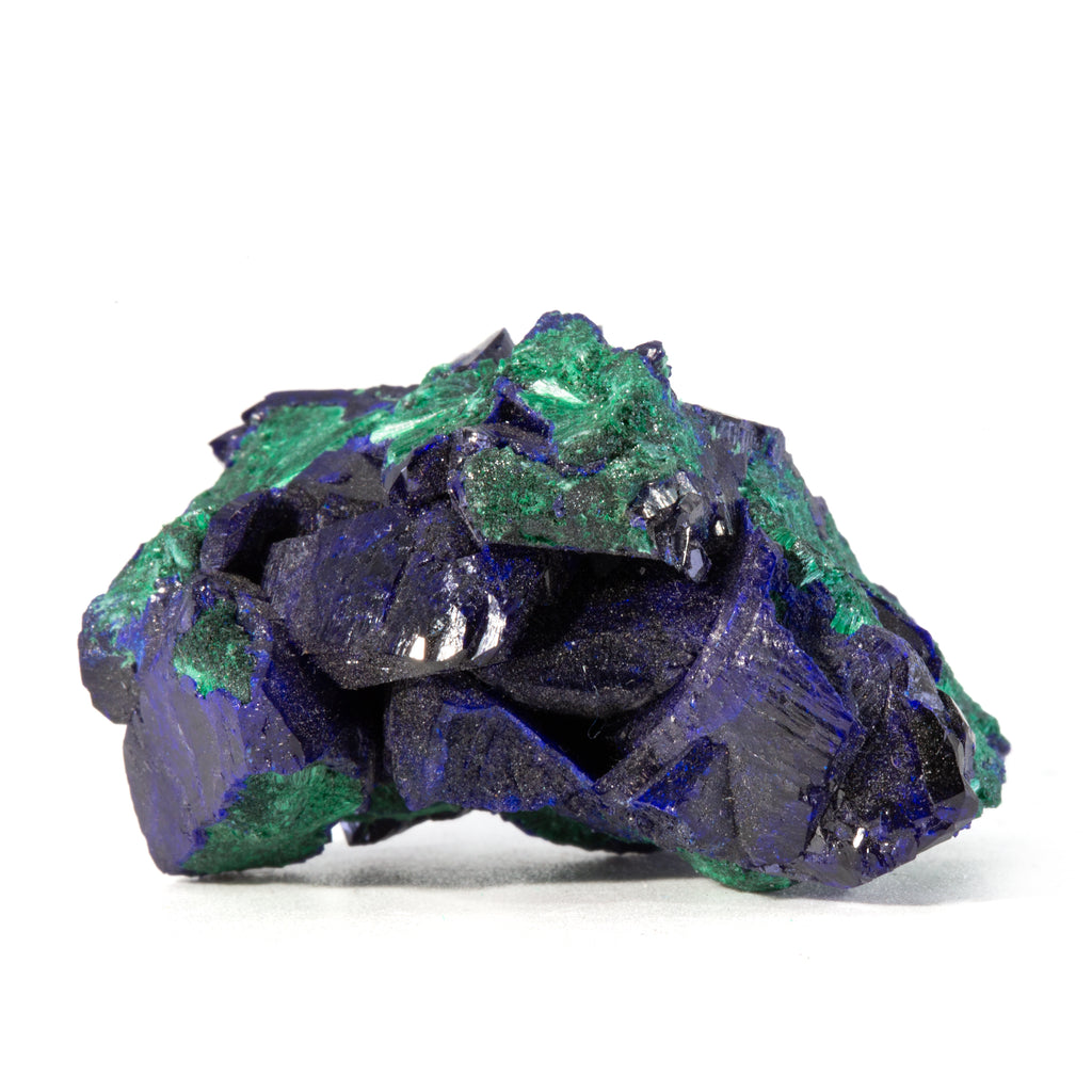 Azurite with Malachite 20.7gram 1.34 inch Natural Crystal Specimen