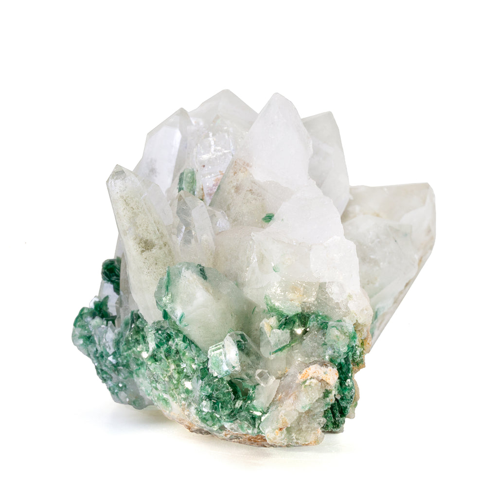 Quartz with Fuchsite 4.1 inch 358 gram Natural Crystal Cluster - Brazil