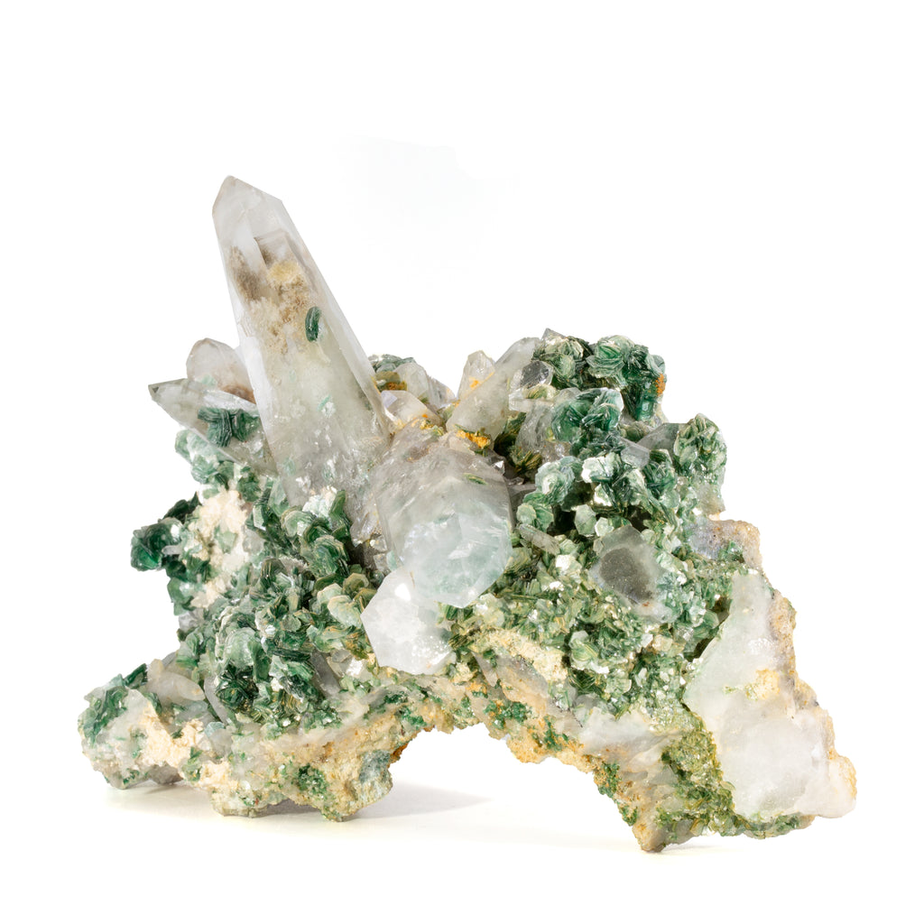 Quartz with Fuchsite 5.84 inch 1.25lb Natural Crystal Cluster - Brazil