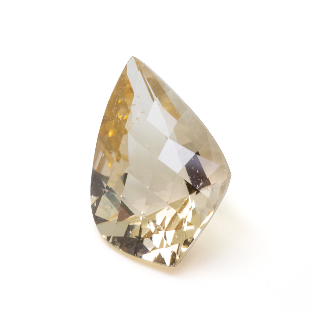 Champagne Beryl 9.46 carat Freeform Faceted Gemstone