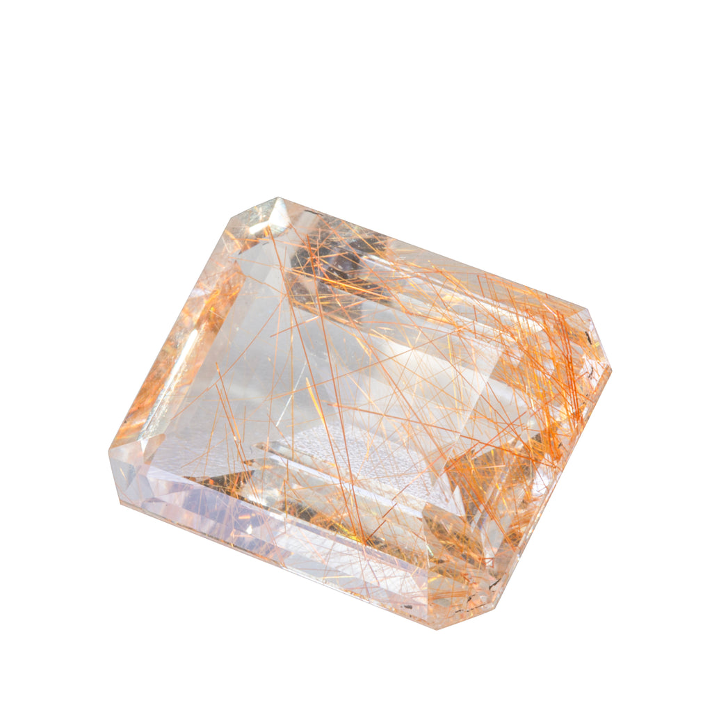 Rutilated Quartz 26.54 carat Faceted Gemstone