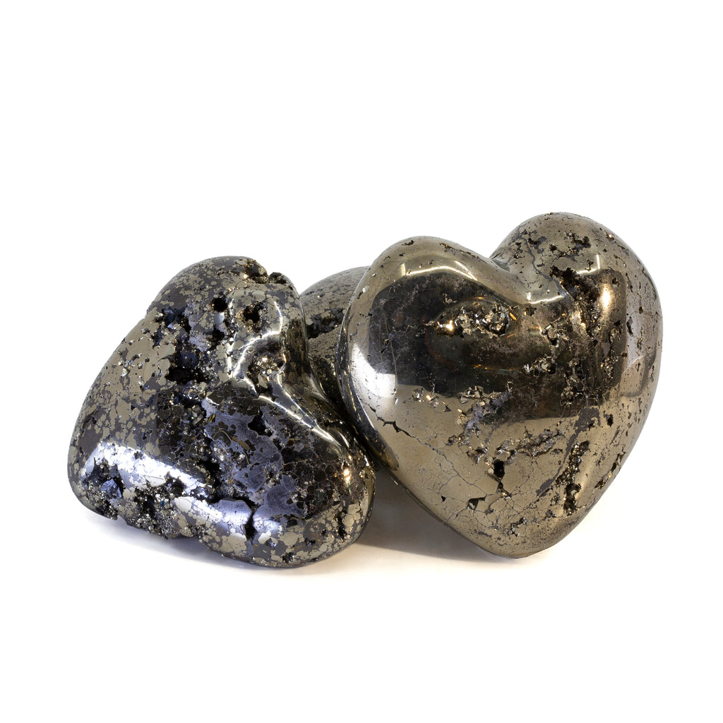 Pyrite Polished Crystal Heart - Peru