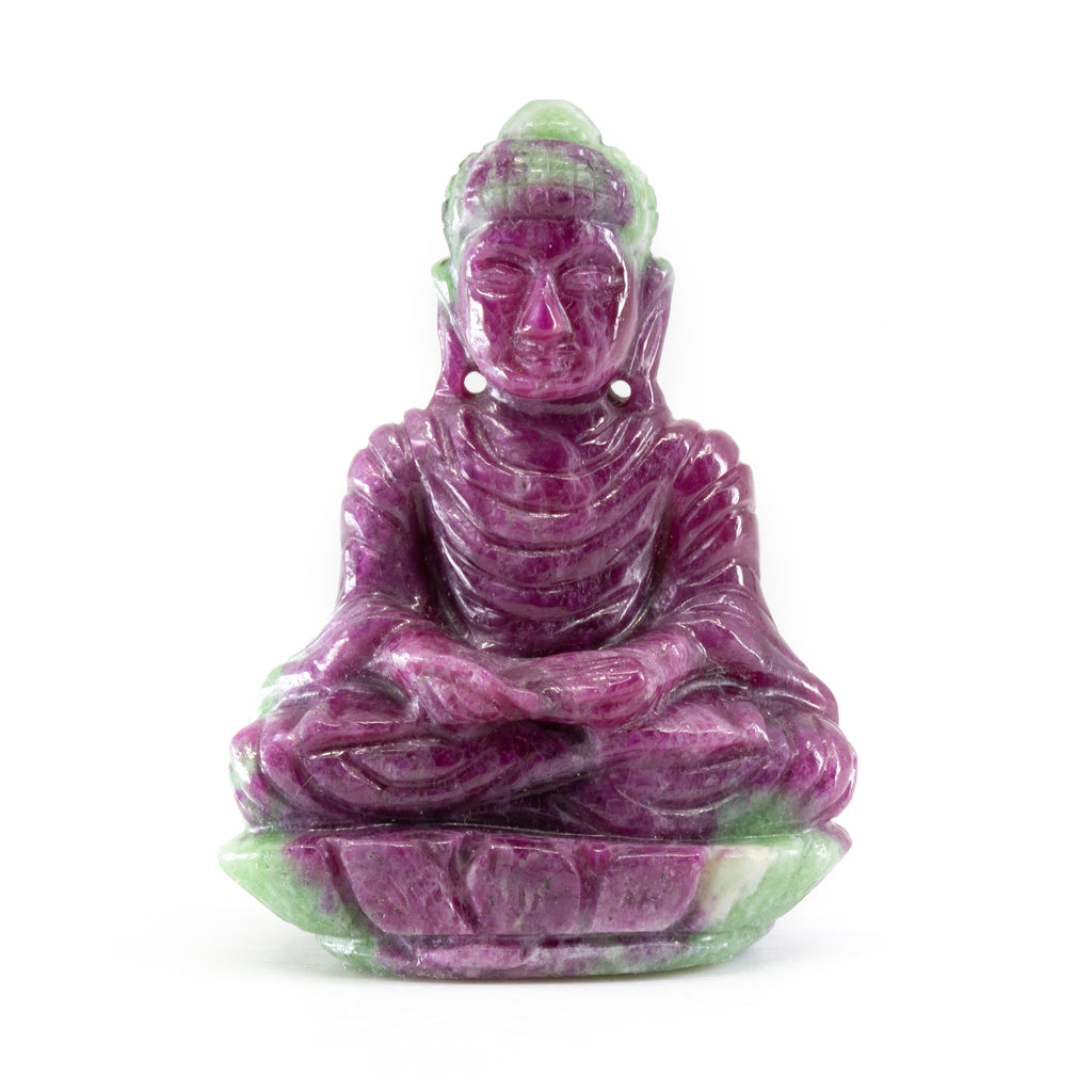 Ruby in Zoisite 2.1 inch 60 gram Buddha Carving