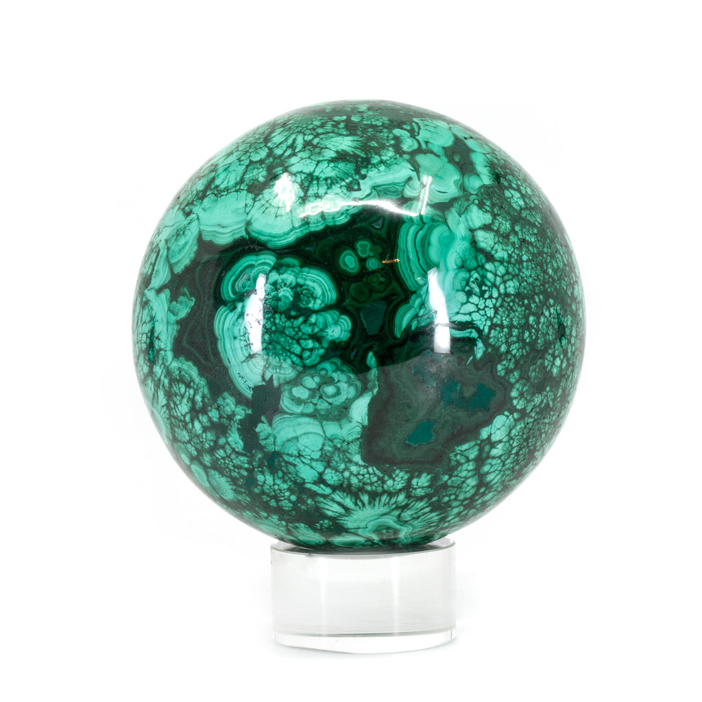 Malachite 3.5 inch 2.78lb Polished Crystal Sphere - Congo