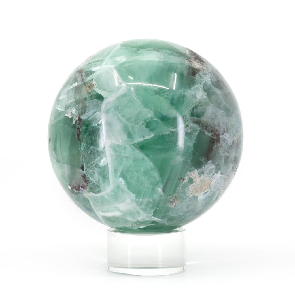 Fluorite 3.6 inch 2.87lb Polished Crystal Sphere - China