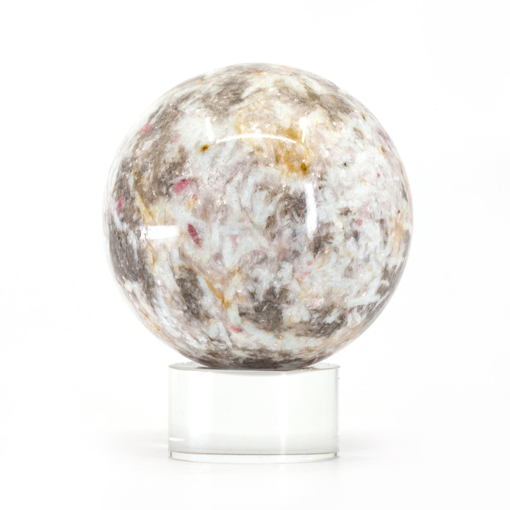 Pink Tourmaline 2.6 inch Polished Crystal Sphere - Russia