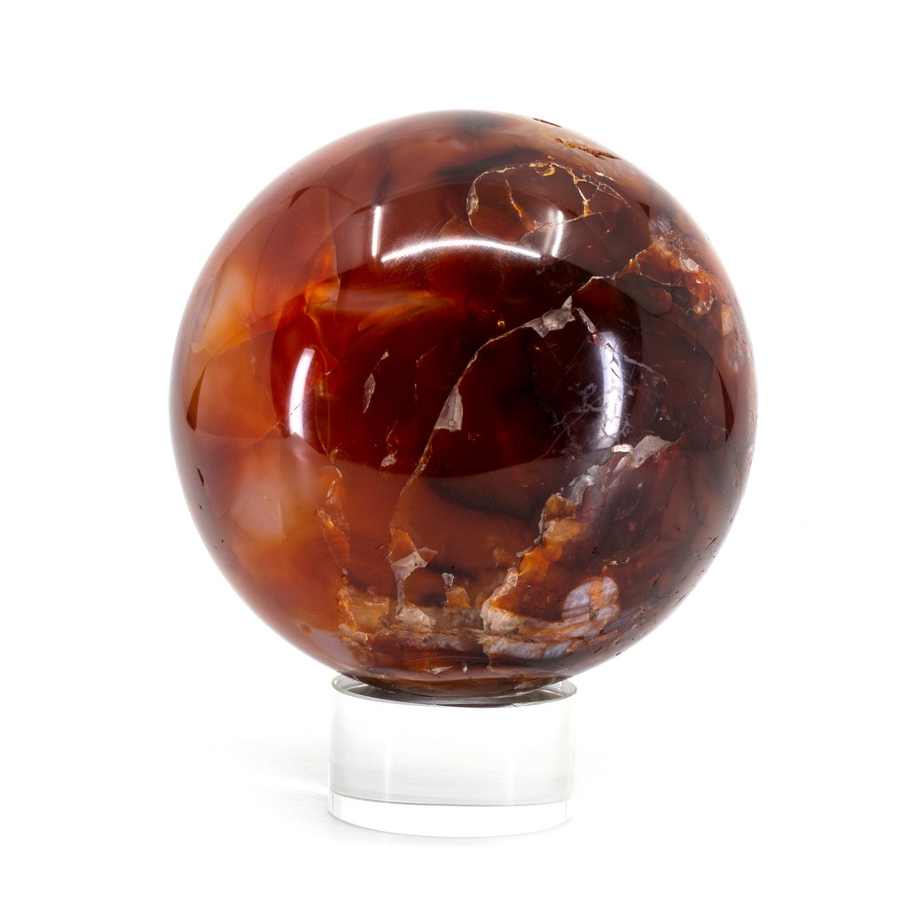 Carnelian 2.9 inch Polished Crystal Sphere - Madagascar