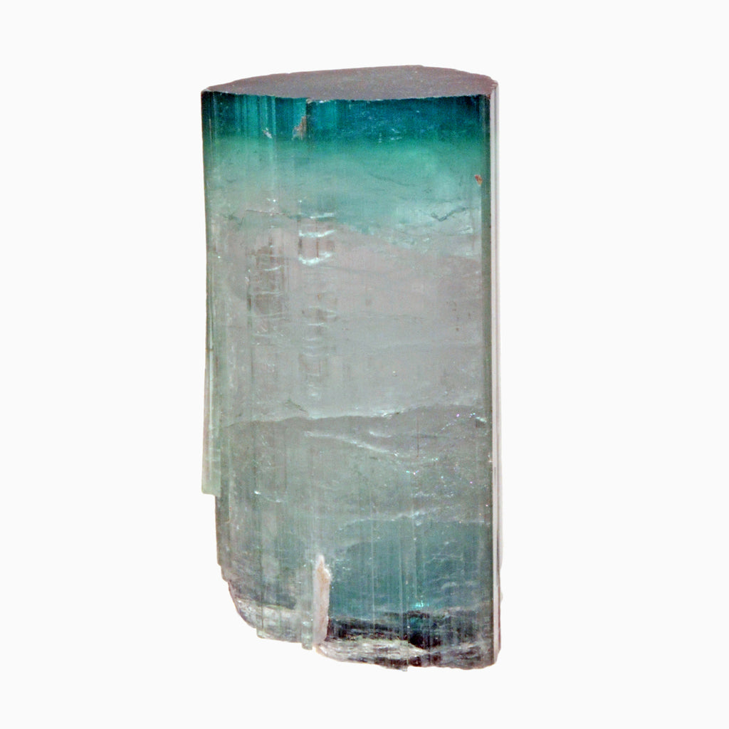 Bi-color Blue and Pink Tourmaline 99.2 gram 2.37 inch Natural Gem Crystal - Majid, Pakistan