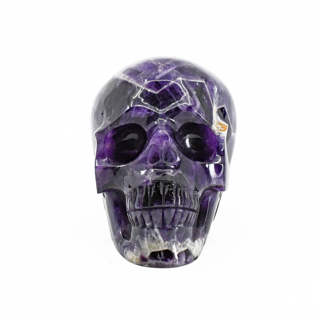 Chevron Amethyst 4.78 inch 2.87 lbs Polished Crystal Skull