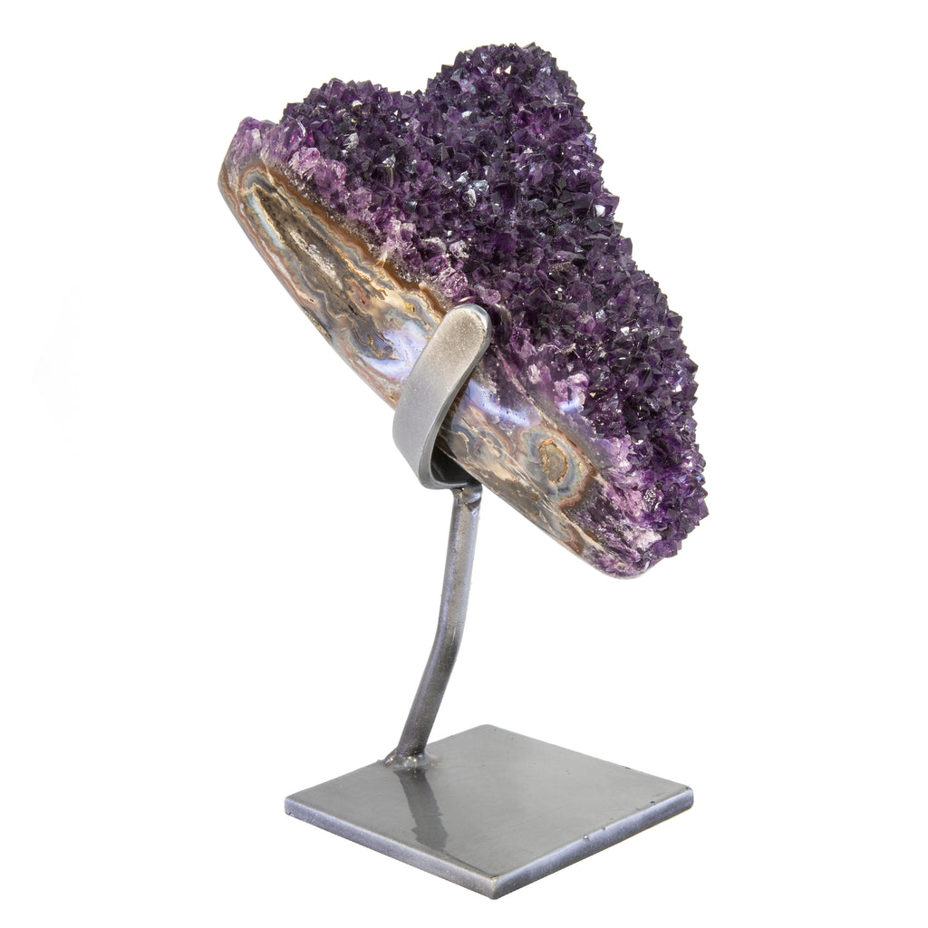 Amethyst 13lb 13.25 inch Natural Crystal Geode on Stand - Uruguay
