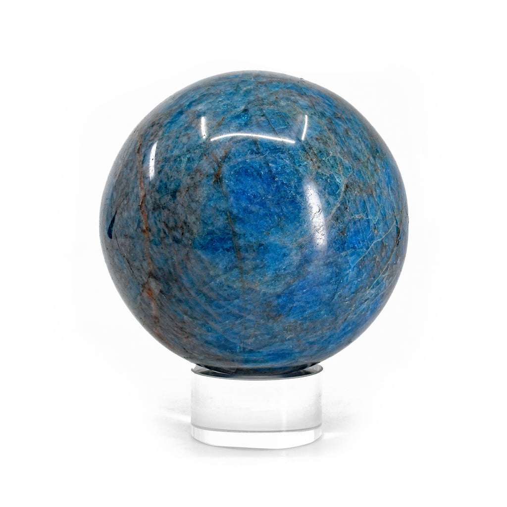 Apatite 3.4 inch 2.35 lbs Natural Crystal Polished Sphere - Madagascar