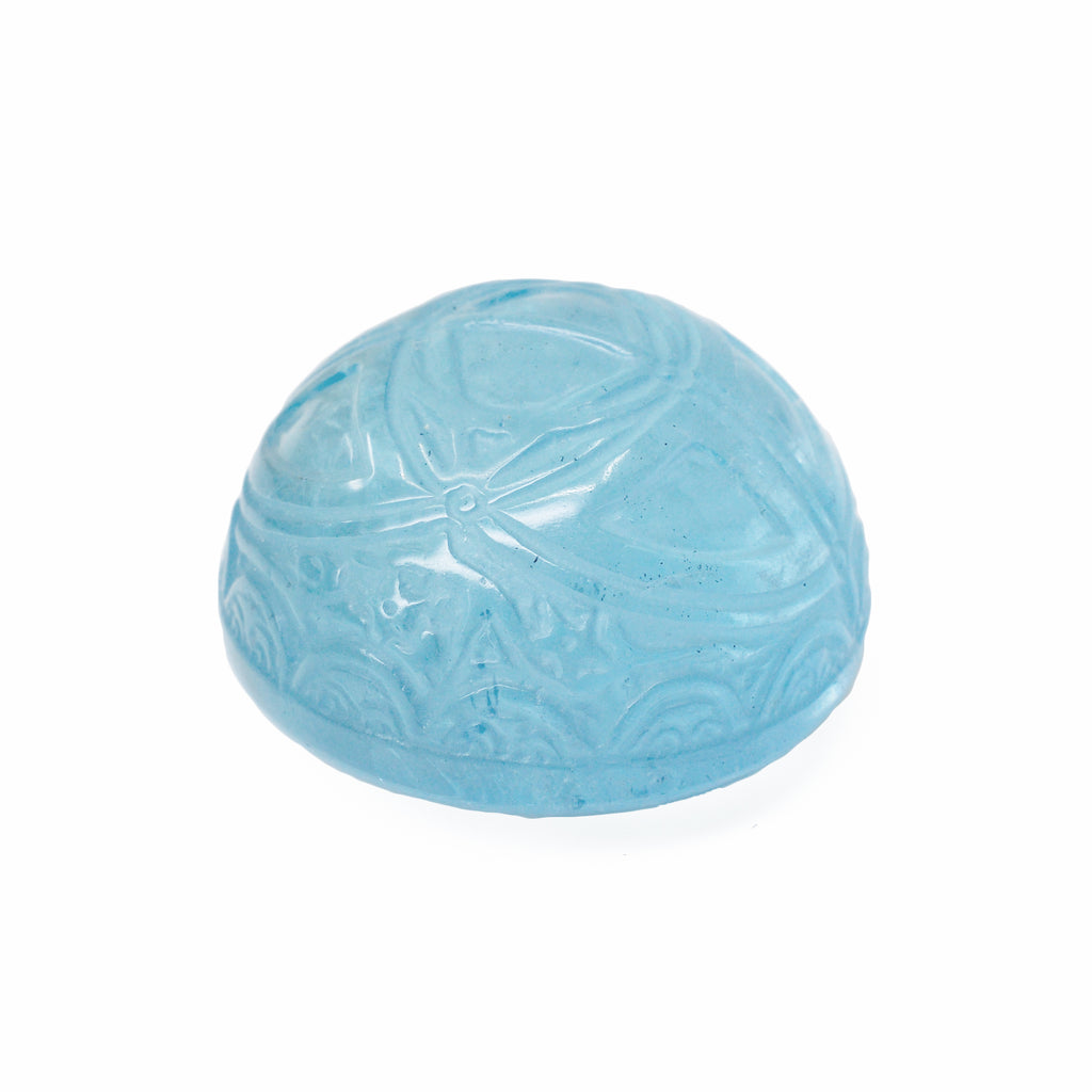 Aquamarine 20.97 mm 43.19 carats Chalice Well Gemstone Carving