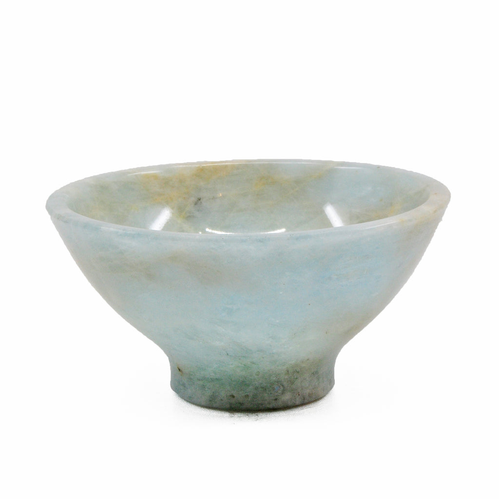 Aquamarine 3.0 inch 0.2 lbs Natural Crystal Polished Bowl - India