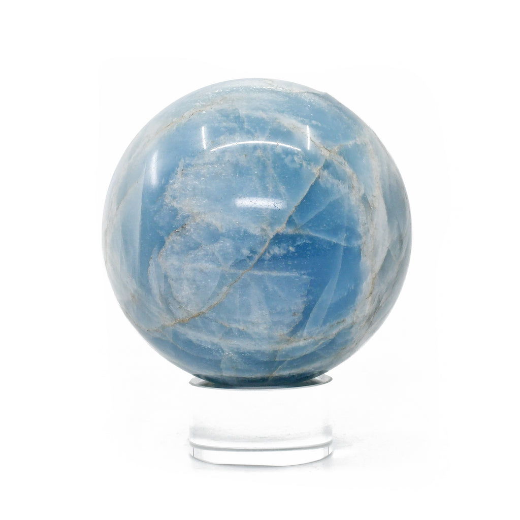 Aquamarine 3.14 inch 1.66 lbs Natural Gemstone Crystal Sphere - India
