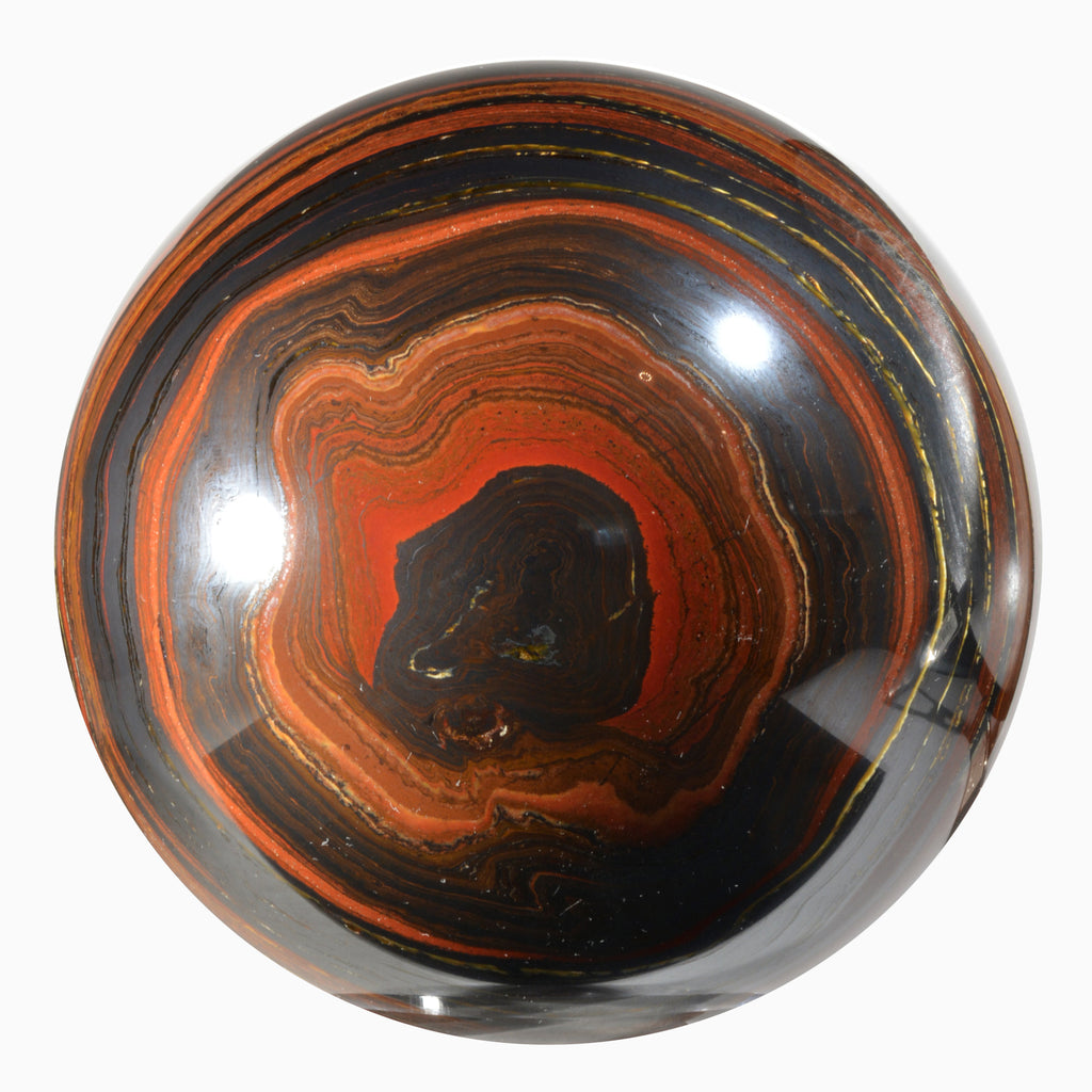 Tiger Iron 5.73 inches 11.5 lbs Natural Crystal Sphere - Australia