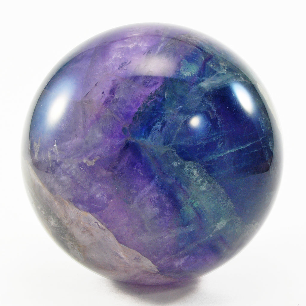Fluorite 3.97 inch Natural Crystal Sphere - China
