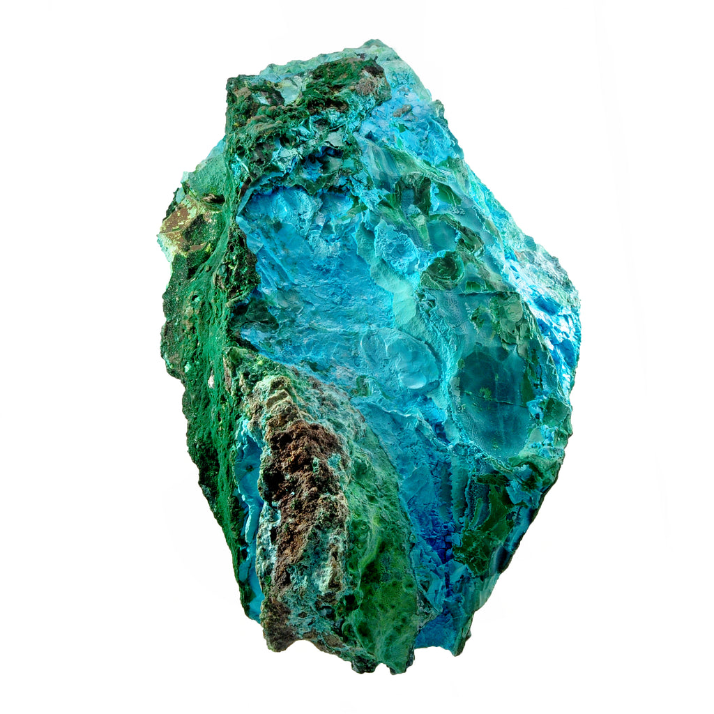 Malachite with Chrysocolla 14.5 inch 11.8 lbs Natural Crystal Specimen - Congo