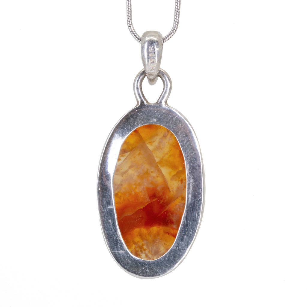 Carnelian 20.48ct Cabochon Handcrafted Sterling Silver Pendant