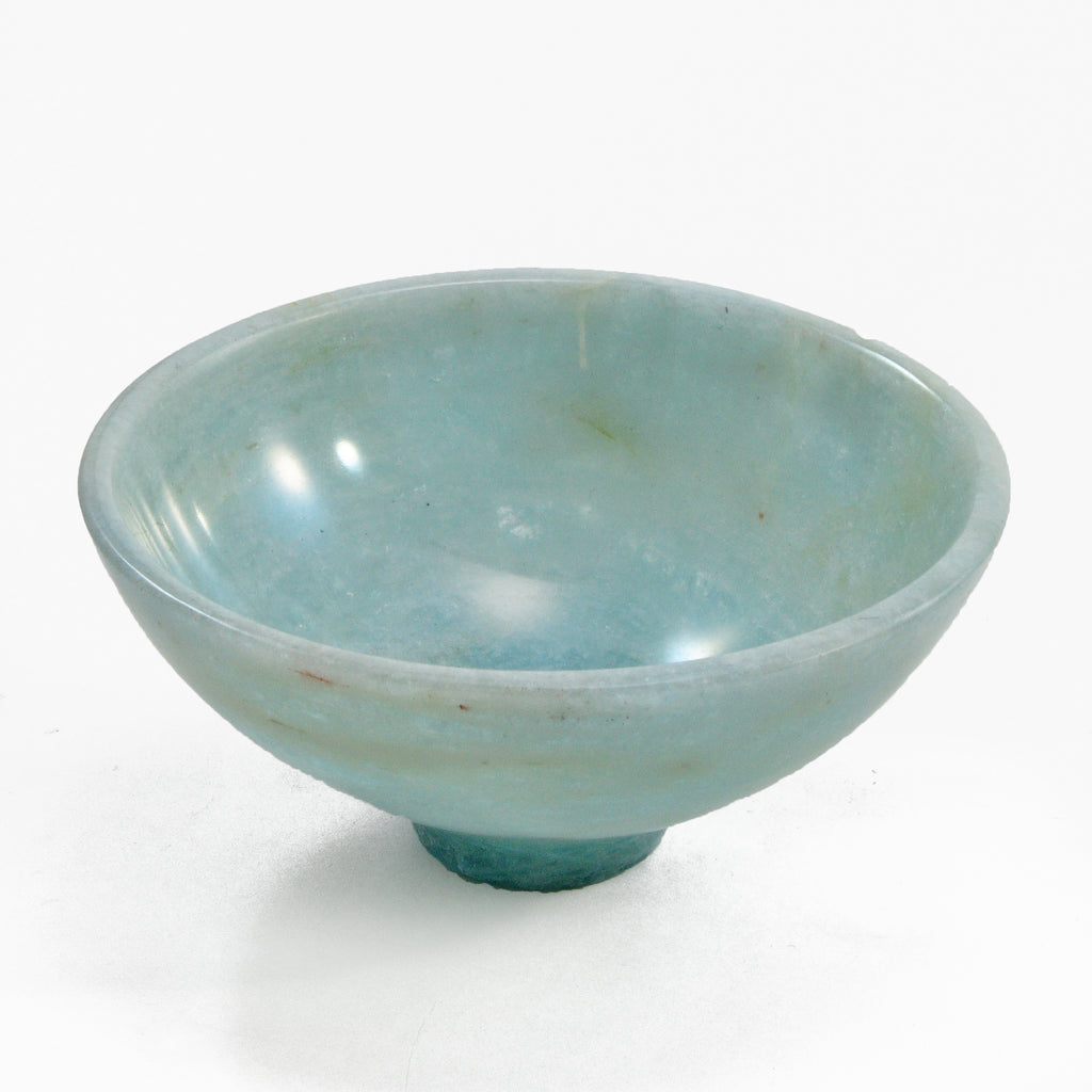 Aquamarine 72 gram 2.99 inch Polished Gemstone Bowl - India